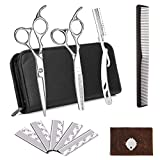 Lalafancy Hair Cutting Scissor Set, Professional Hairdressing Scissors 6'', Thinning Hairdressing Barber Scissors