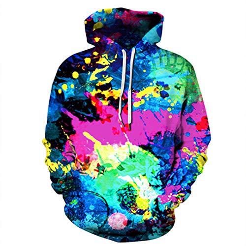 ies Graffiti gedrucktes Sweatshirt Hoodie mit Kapuze Trainingsanzug Mäntel Streetwear Md8341 XXL ()