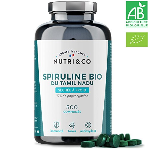 Spiruline Bio AB | 500 Comprimés de 500 mg Purs...