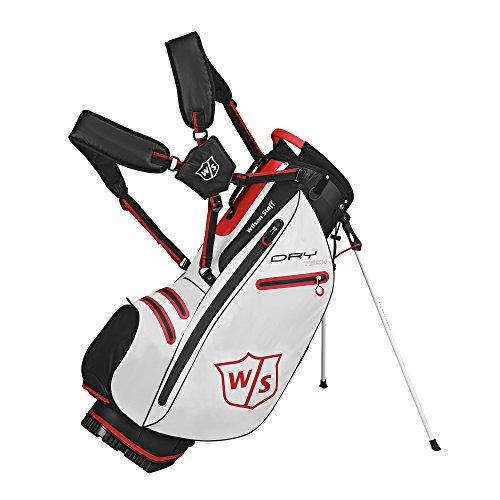 Wilson 2015 DryTech Lightweight Stand Bag Mens Golf Carry Bag 5-Way Divider White (Bag Teiler Golf)