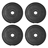 JLL® Weight Plates 1' Vinyl Weights for Dumbbell/Weight Lifting Bars - 5kg, 7.5kg, 10kg in Sets of...