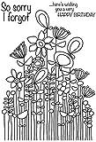 Woodware klar Magic Lang Tall Sally Strauß Stempel Set, Polymer, 21x 11x 0,6cm -