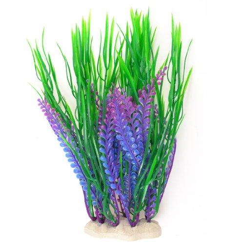 264cm-haute-rservoir-de-poissons-dcor-artificiel-herbe-de-leau-plantes-vert-violet