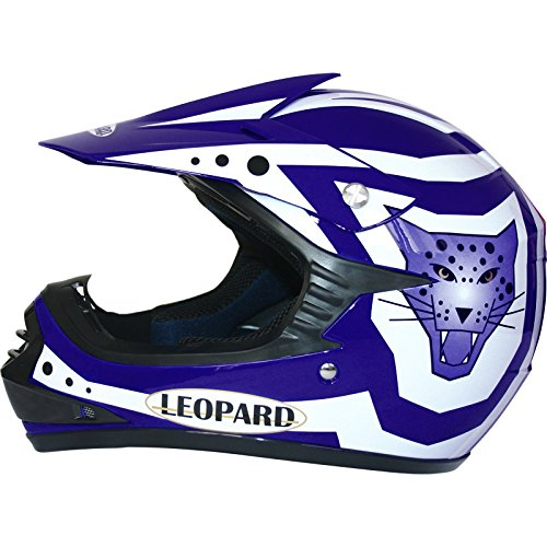 Leopard LEO-X17 Casco da Motocross per Bambini off-Road ECE 22-05 Approvato Guanti Tuta da Motocross per Bambini Occhiali