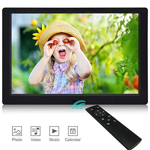 Digitaler Bilderrahmen, 2019 Neuester UI-Entwurf Eingebauter 4 GB-Speicher YENOCK 10,1 Zoll 1280 x 800 Hochauflösender IPS-Foto- / Musik- / Videoplayer