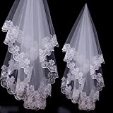 Viskey Bride Wedding Lace Veil, White