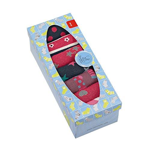 Sterntaler Baby Girls Söckchen, 7er Box, Rot (Beere) Socken, (Beerenr Mel 816), 17-18