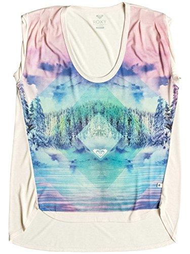 Roxy Crazy Barrel Mountain High - Tee-Shirt pour femme ERJZT03548 ANGORA