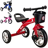 Kiddo rosso a 3 ruote per bambini, motivo: Smart-Trike-Triciclo cavalcabile per 2-5 anni, colore: rosso