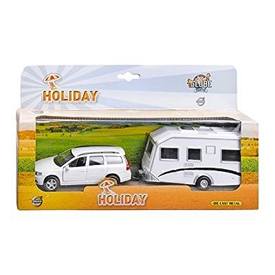 Speelgoed 52.1630 - Spielmodell - Auto Volvo V70+Caravan (farblich sortiert) von Speelgoed