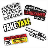 folien-zentrum 5 Aufkleber Set Shocker Hand Auto JDM Tuning OEM Dub Decal Stickerbomb Bombing Sticker Illest Dapper Fun Oldschool