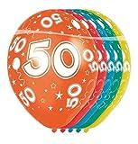 bb10 Schmuck 50 Geburtstag Deko Luftballon Ballons mit Zahl 50 Farbmix Metallic Dekoration zum 50. Geburtstag Party oder andere Anlässe 5 Stück