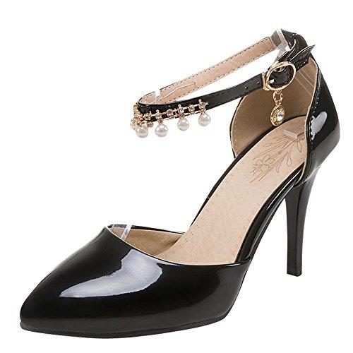 MissSaSa Donna Scarpe col Tacco Alto Elegante e Sexy Nero