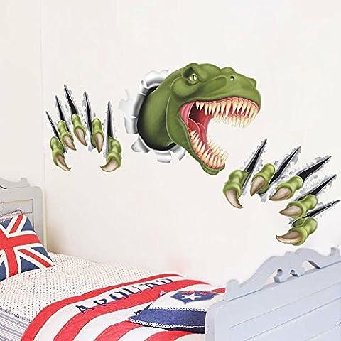 KAILO Vinilos Decorativos Pegatinas de Pared 3D Dinosaurio Stickers Impermeable Sala Dormitorio Habitación Decor Etiqueta de la pared 46x87