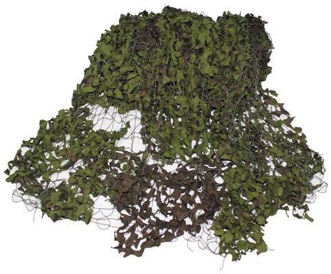 Brit. Tarnnetz, oliv, gebr., geschnitten, Gr. 3 x 5 m