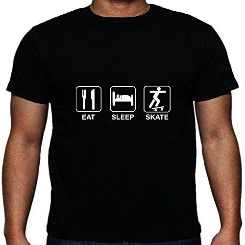 Essen Sie Schlaf-Skate-T-Shirt S