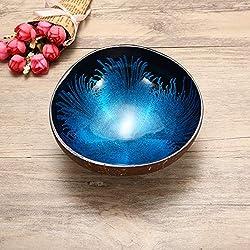 Cuenco Decorativo de Coco Natural, decoración Artesana de mesas de centro