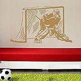 caowenhao Sticker Mural Joueur Hockey Gardien Papier Peint garçon garçon Brun 65x104cm
