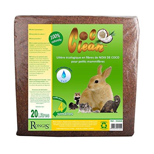 COCO CLEAN LITIERE 100¨% NATURELLE POUR RONGEURS 20 LITRES