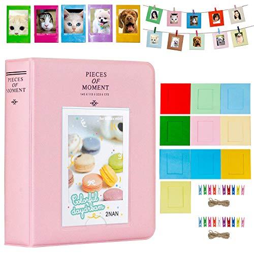 e Set Zubehör für Fujifilm Instax Mini Kamera, HP Ritzel, Polaroid Zip, Snap, Snap Touch Druckerfolien mit Film Aufkleber, Album & Rahmen (64 Taschen, Pink) ()