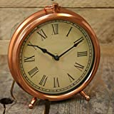 Roman Numeral Pocket Watch Style Copper Mantlepiece Clock by Carousel Home