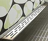 Wandablauf Extra Flach Duschrinne eckig Wandmontage Bodenablauf Duschablauf SM02 70 cm