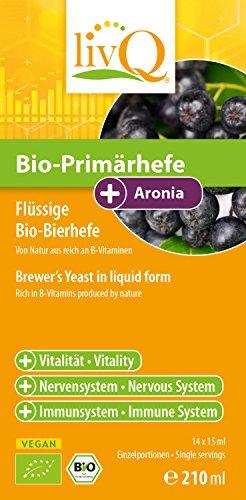 LivQ Bio-Primärhefe Aronia ✔ Hochwertige Vitamin B-Quelle ✔ Belebend, Präbiotisch ✔ 210ml -