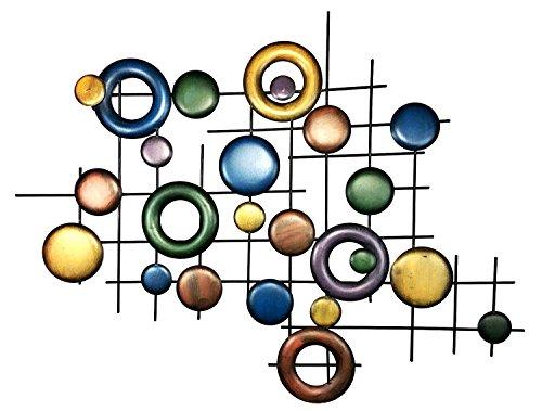 Bellaa Abstrait Décoration Murale en Métal pour Moderne et Contemporain Sculpture Décor Fonctionne Intérieur ou extérieur