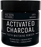 Activated Charcoal Natural Teeth Whitening Powder by Pro Teeth Whitening Co® | With added Ginger Root, Bentonite Clay & Calcium | NON Synthetic & NO Chemicals | More Effective Than Strips , Gels & Most Tooth Whitening Kits | 100% No Questions Asked Money Back Guarantee | Manufactured in the UK