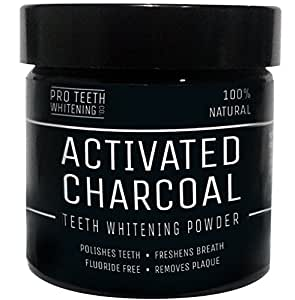 activated charcoal natural teeth whitening powder by pro teeth whitening co with added ginger. Black Bedroom Furniture Sets. Home Design Ideas