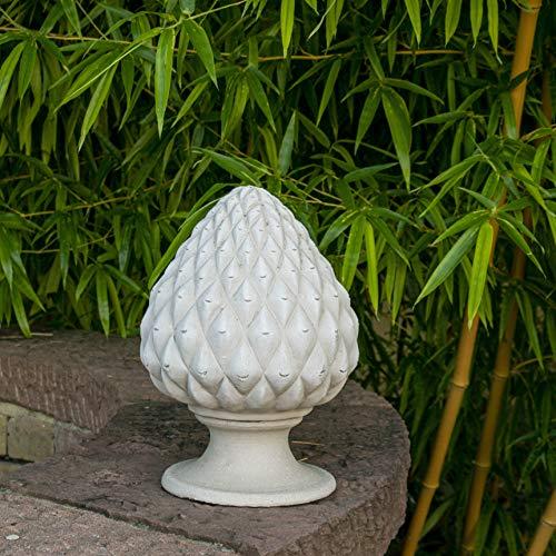 Kreta-Keramik hochwertige Pininenzapfen aus Terracotta, 28 cm, von Hand gefertigt mediterrane Deko für den Außenbereich/Garten, Balkon