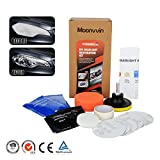 Moonvvin Lens Cleaning Kit Headlight Restoration Tool to Restore Dull Faded Discoloured Headlights