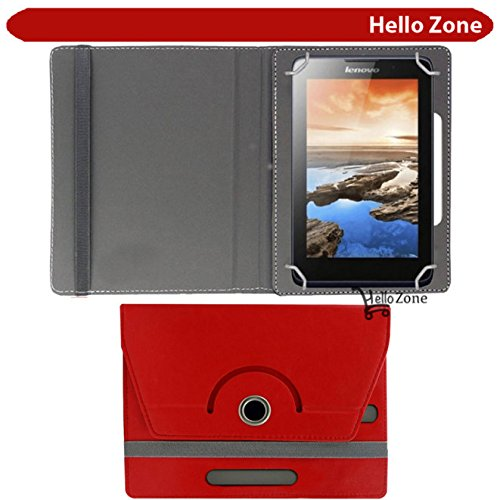 "Hello Zone 360° Rotating 7"" Inch Flip Case Cover Book Cover for Swingtel Hello Tab 2 -Red  available at amazon for Rs.285"