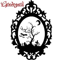 Halloween Gothic Sticker Haunted Grim Ghost Grim Zombie Witch Black Cat Wall Window Home Weatherproof Vinyl Decal