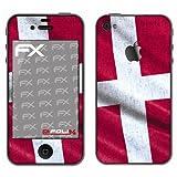 Displayschutz@FoliX atFoliX - Pellicola protettiva design Calcio 2012 con bandiera della Danimarca, per Apple iPhone 4/4s