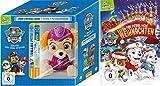 Paw Patrol Box : DVD (Toggolino) Volume 1-7 inkl. Plüschfigur Skye + DVD Rettet Weihnachten im Set - Deutsche Originalware [8 DVDs]