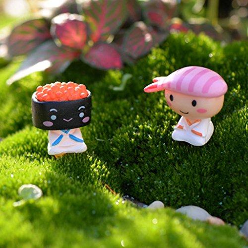 10xminiature Casa Delle Bambole Giardino Micro Paesaggio Bonsai Decorazione Sushi Bambino Nero