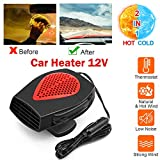 Bamoer Portable Car Heater, Auto Windshield Fast defroster defogger, 【2020 Upgrade】 12V 150W Automobile Car Heater Fan Plug in Cigarette Lighter Best Gift for Winter
