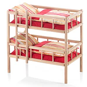 bayer chic 2000 chic 2000 523 18 puppen etagenbett vario aus holz design ariele rot amazon. Black Bedroom Furniture Sets. Home Design Ideas