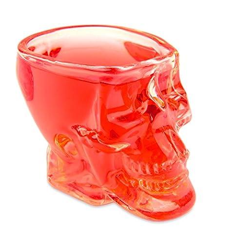 Skull–Tête de mort de gaz (60ml). Pour la maison bar/fête/au motif tête de mort, cadeau Vodka, de Whisky, tête de mort, verre à liqueur, transparent