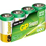 GP Batteries Super Pack de 4 Piles LR14/1,5 V