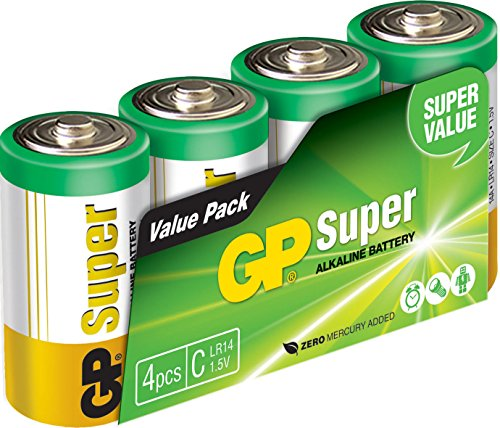 GP Batteries 151036 LR14 Film de 4 Piles 1,5 V