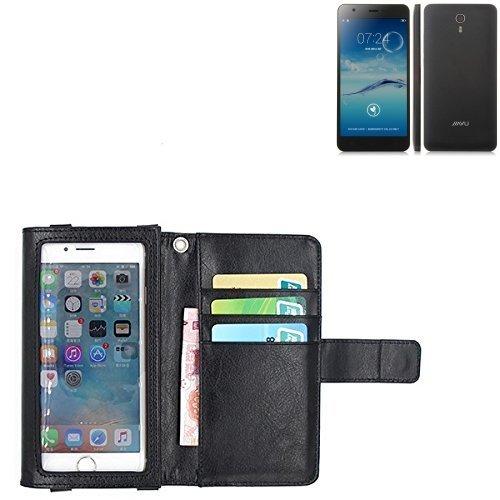 K-S-Trade Für Jiayu S3 Advanced Schutz Hülle Case mit Displayschutz/Schutzfolie Flip Cover Wallet case Etui Hülle für Jiayu S3 Advanced schwarz
