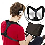 ewinever(R) Adjustable Posture Corrector Upper Back Brave Clavicle And Shoulder Support For Men And Women Body Correction