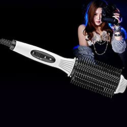 white Fashion Multifunctional 2-in-1 Auto Electric Hair Comb Curler/Straightener