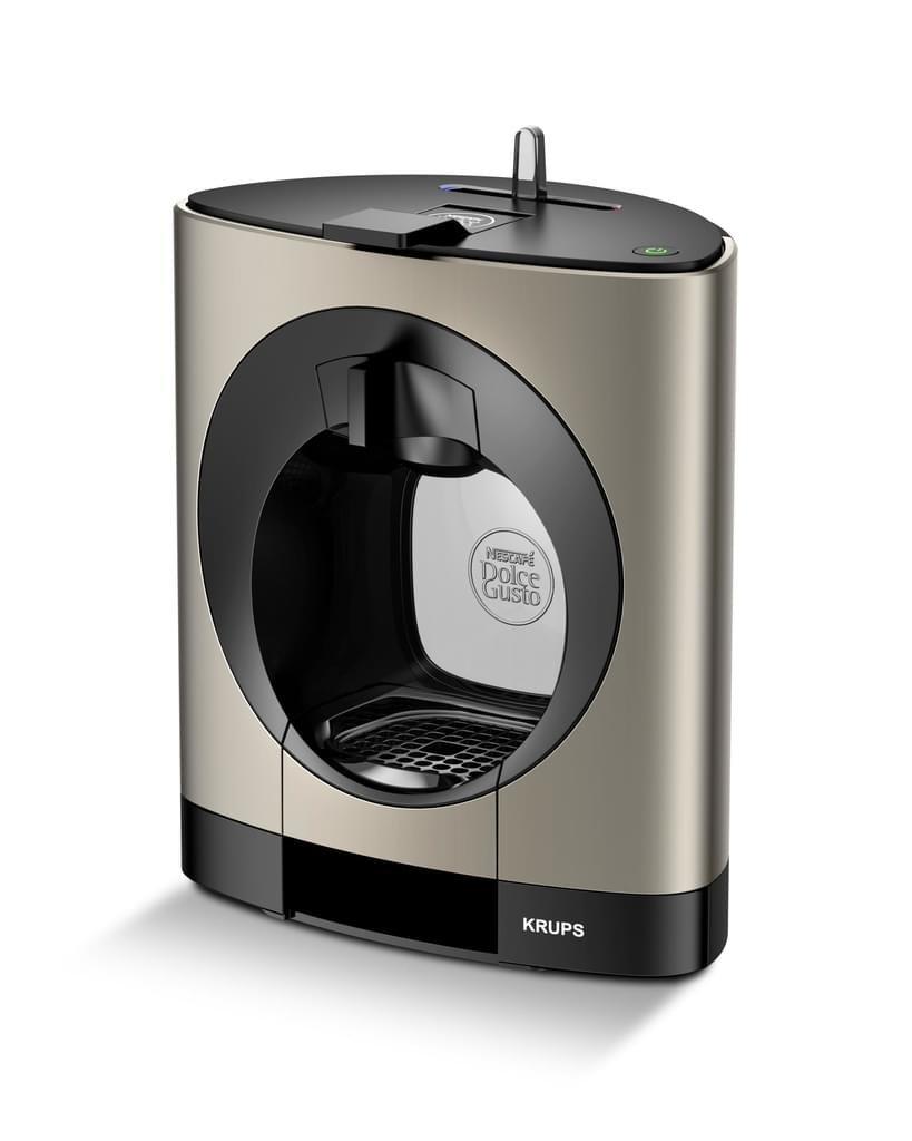 Dolce-Gusto-Oblo-Krups-KP110T-Nescaf-Kaffeekapselmaschine-manuell-Titan-Zertifiziert-und-Generalberholt