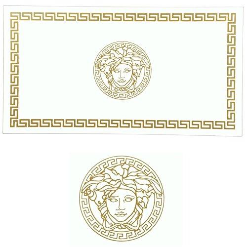 Euro Tische Glasplatte für Tisch - Glasscheibe mit 6mm ESG Sicherheitsglas - perfekt geeignet als Tischplatte - Verschiedene Größen (80x80cm, Gold)