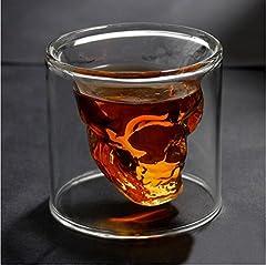 Idea Regalo - Hwagui modo Cool teschio di cristallo vetro bere bicchiere di vino per un whisky di colpo 200 ml/ 7 oz