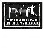 Shirtee Hochwertige Fußmatte - Wenn ich nicht aufmache bin ich beim Volleyball Volleyballspieler Geschenk Mann Frau