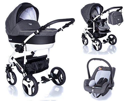 Kombi Kinderwagen Travel System Camarelo Carera New Can-3 3in1 Buggy Sportwagen Babyschale Autositz...